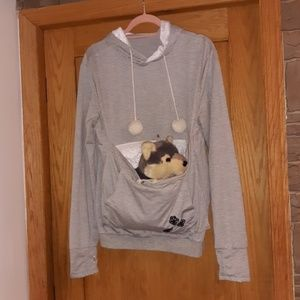 Sweaters - Sweater with dog pouch